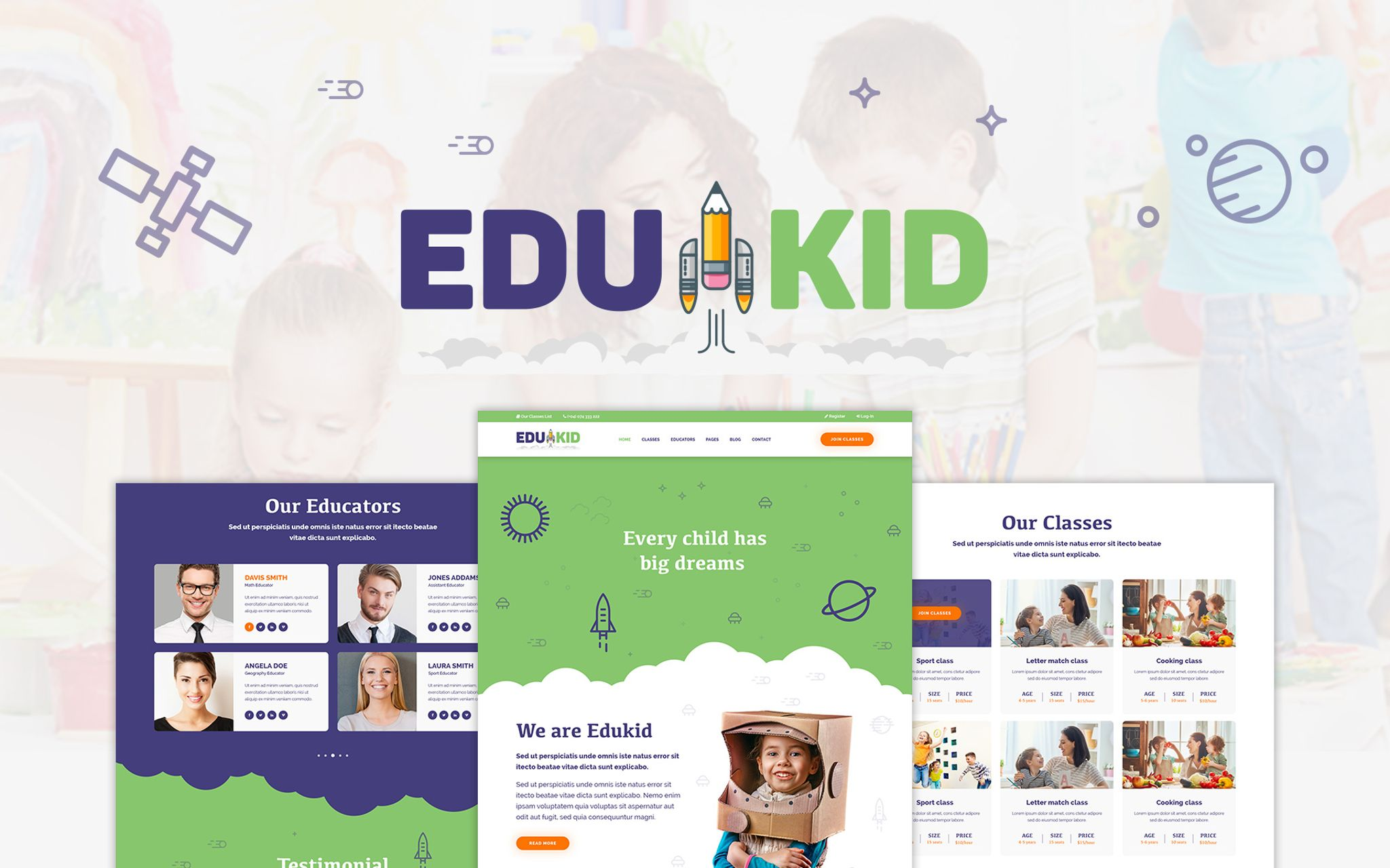 Edukid – Kindergarten & Education Theme