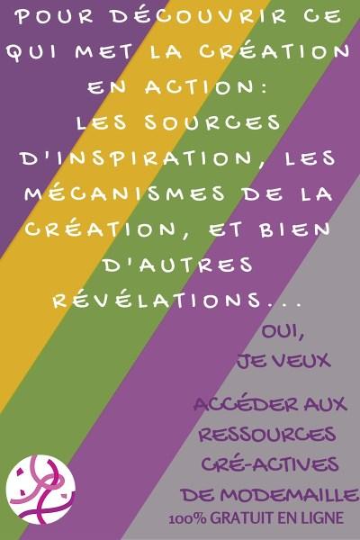 Les ressources CréActives de ModeMaille: tout savoir sur les sources d'inspiration et les mécanismes de la création