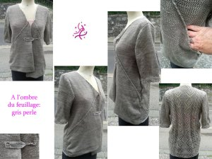 Vous cherchez une veste en 100% lin délicatement ajourée et de forme originale? Alors cette veste à manche courte est pour vous!