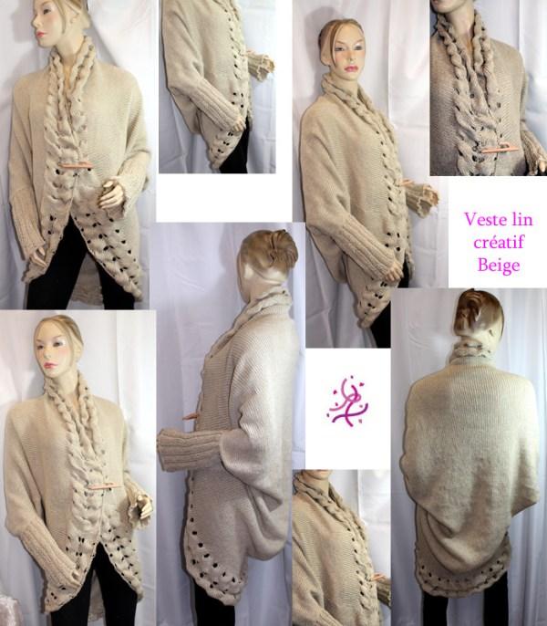 Vous cherchez une veste originale et enveloppante sans être étouffante, une seconde peau pour les soirées d'été? Alors la veste Lin Créat