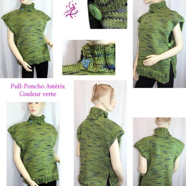 Pull-Poncho Astérix Vert