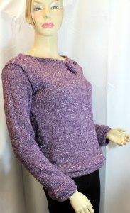 Veste courte en chanvre couleur lilas