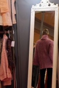 Veste kimono rose vue de dos
