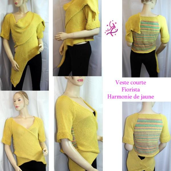 Veste fiorista jaune et verte