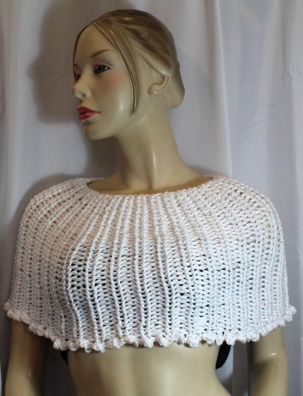 Chauffe-épaules blanc vu de devant
