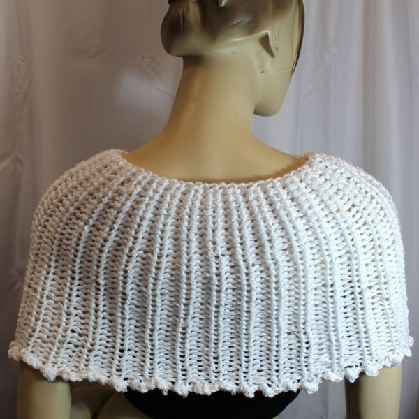 Chauffe-épaules blanc vu de dos