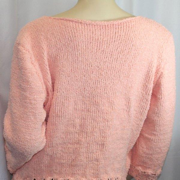 """Cache-cœur """"Plume d'oie"""" en coton, couleur rose"""