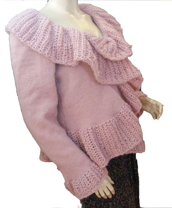 Veste poudreuse rosée
