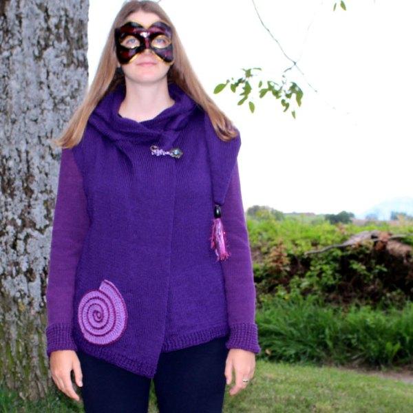 Violet, torsade cassis