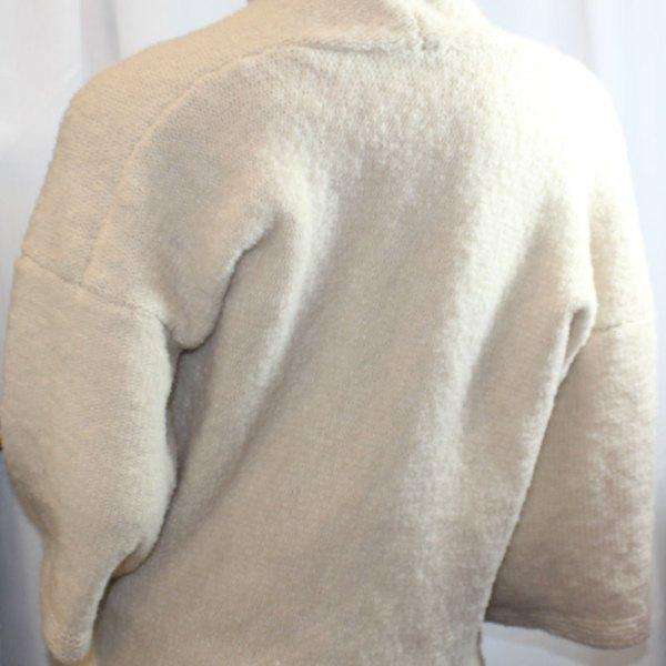 Veste Kimono Unie, couleur dune