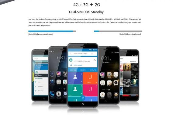 Ulefone Paris 4G - front