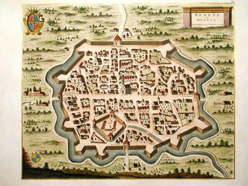 Mappa Modena medioevo
