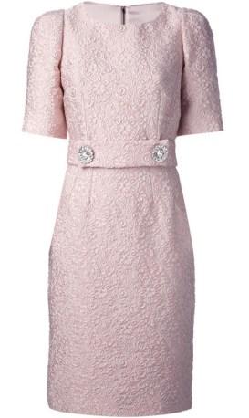 Pink Floral Dress från Dolce & Gabbana fram