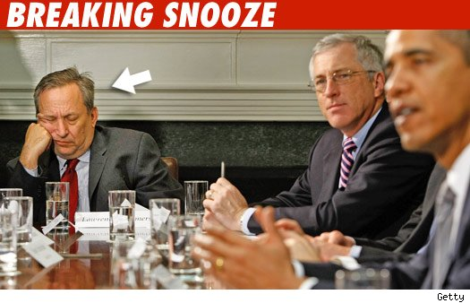 Larry Summers was SHOCKED to learn of Bernanke's appointment, as he had slept through the team meeting...
