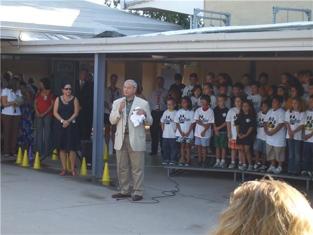 Rep. Harry Mitchell (D-AZ) School Flag Raising Ceremony