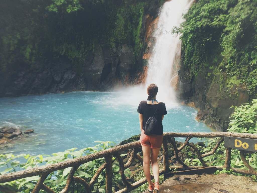Waterfall Views, Rio Celeste Hike, Costa Rica