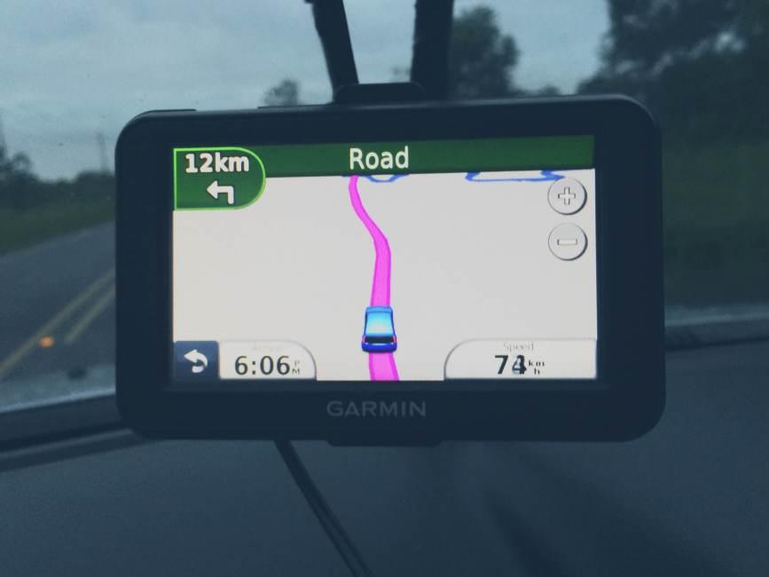 GPS Navigation, Dirt Road in Costa Rica