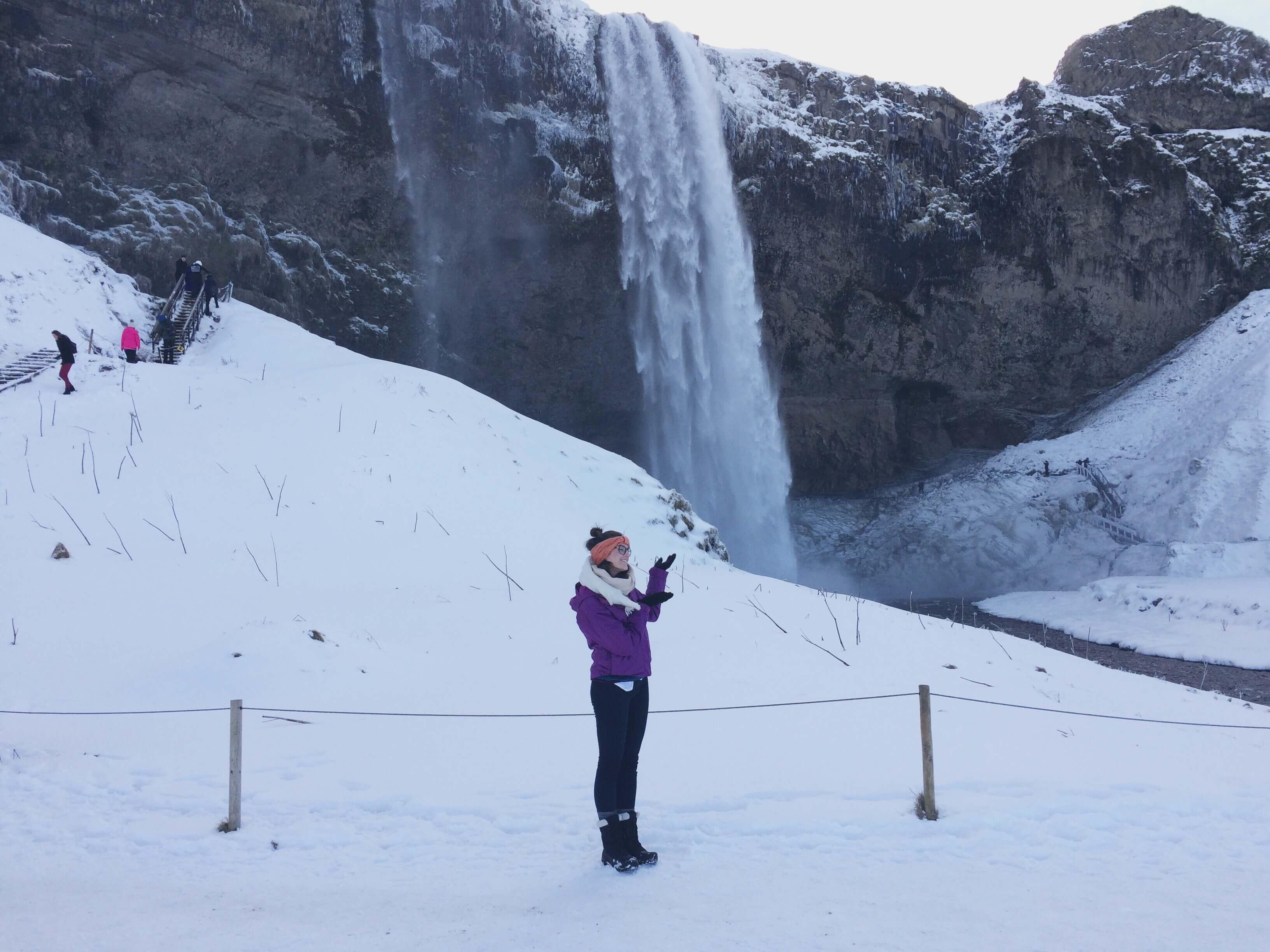 Seljalandfoss waterfall in Iceland's southeastern coast