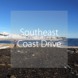 South coast driving, Iceland