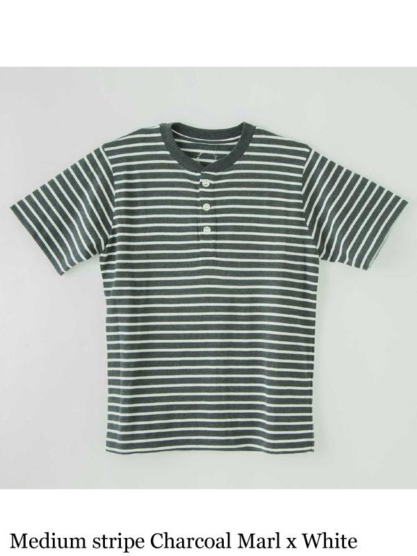 山と道,Merino Henry T-shirt stripe,メリノヘンリーTシャツ