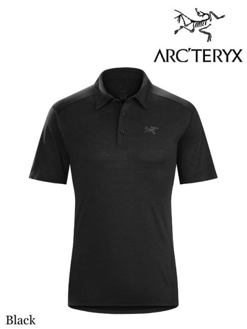 ARC'TERYX,アークテリクス,Pelion Polo Shirt #Black,ぺリオン ポロシャツ メンズ