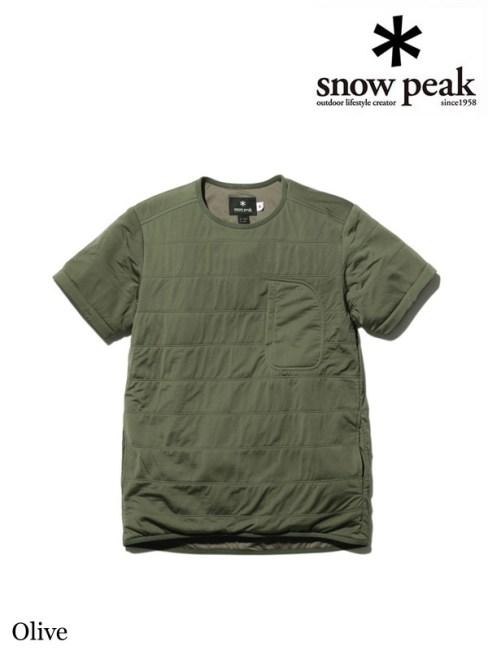 snow peak,スノーピーク,Flexible Insulated Half Sleeve Womens #Olive ,フレキシブルインサレーションハーフスリーブ レディース #オリーブ