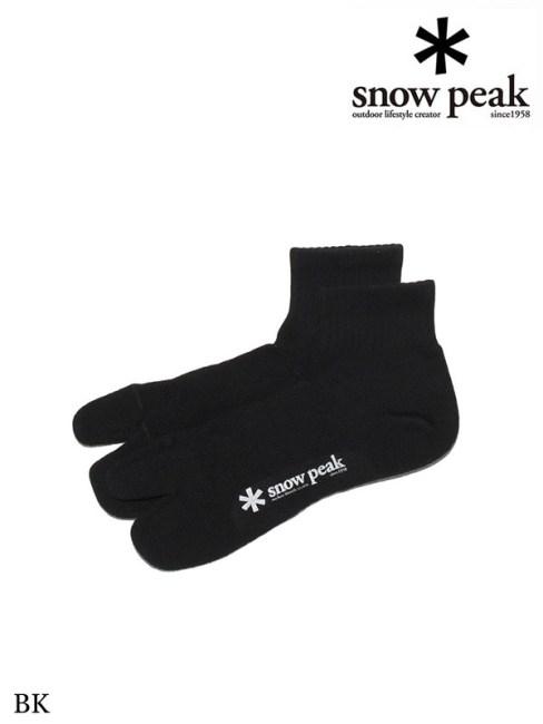 snow peak,スノーピーク,Mid Tabi Sox #BK,ミッド足袋ソックス #ブラック