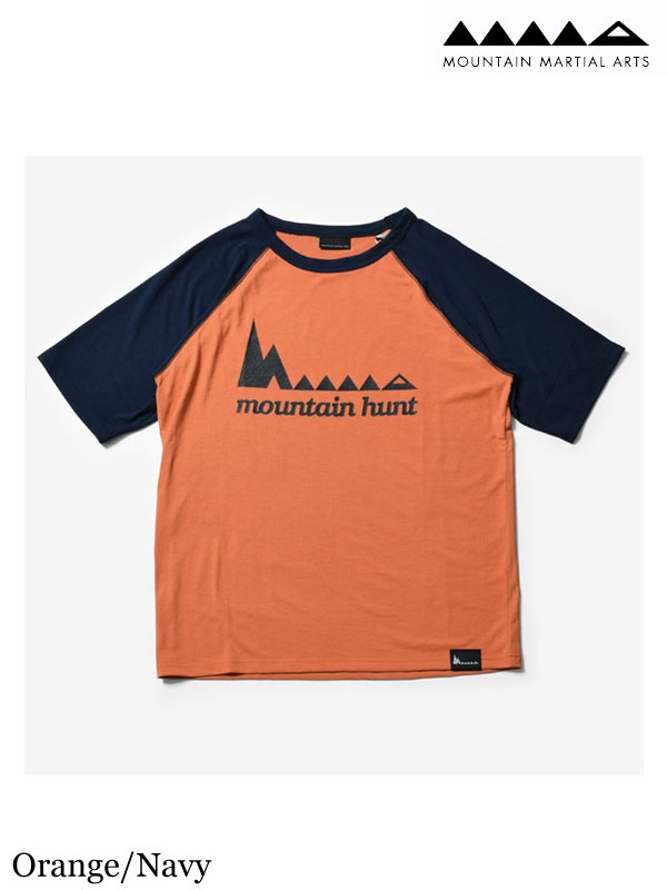 MMA,マウンテンマーシャルアーツ ,MMA×huntstored. Raglan Tee #Orange_Navy, MMA×huntstored. hunt ラグラン Tシャツ