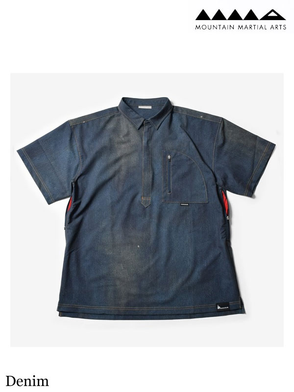 MMA、マウンテンマーシャルアーツ 、MMA×huntstored. Pull Over Mountain Shirts #Denim 、MMA×huntstored. プルオーバー マウンテンシャツ