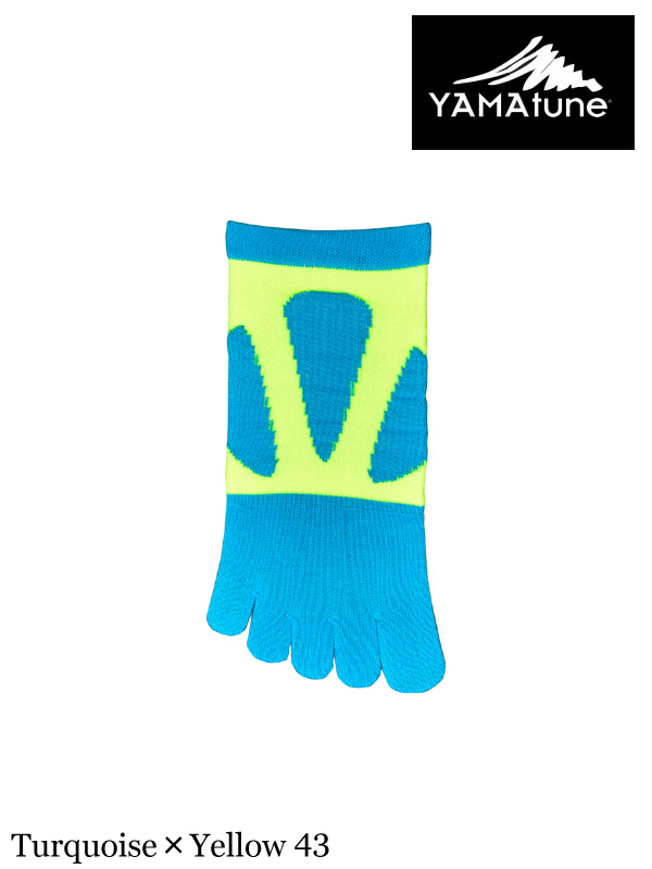 YAMA tune,Spider Arch Support 5toe/ Short Length #Turquoise×Yellow 43 ,ヤマチューン,スパイダーアーチ5本指ショート