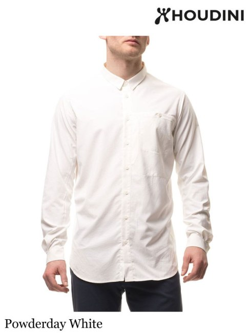 HOUDINI,フーディニ ,M's Longsleeve Shirt #Powderday White ,メンズ ロングスリーブシャツ