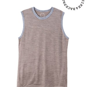 山と道|Light Merino Sleeveless T-shirt  #Nomad Marl