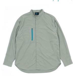 Classic Stand Collar Long Sleeve Shirt #LT.Green|REFT 入荷しました。