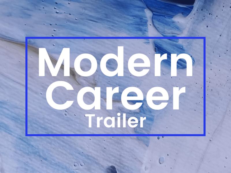 modern career podcast trailer cover art