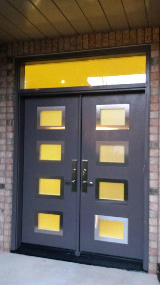 Modern Exterior Door With 8 Door Lites And Stainless Steel