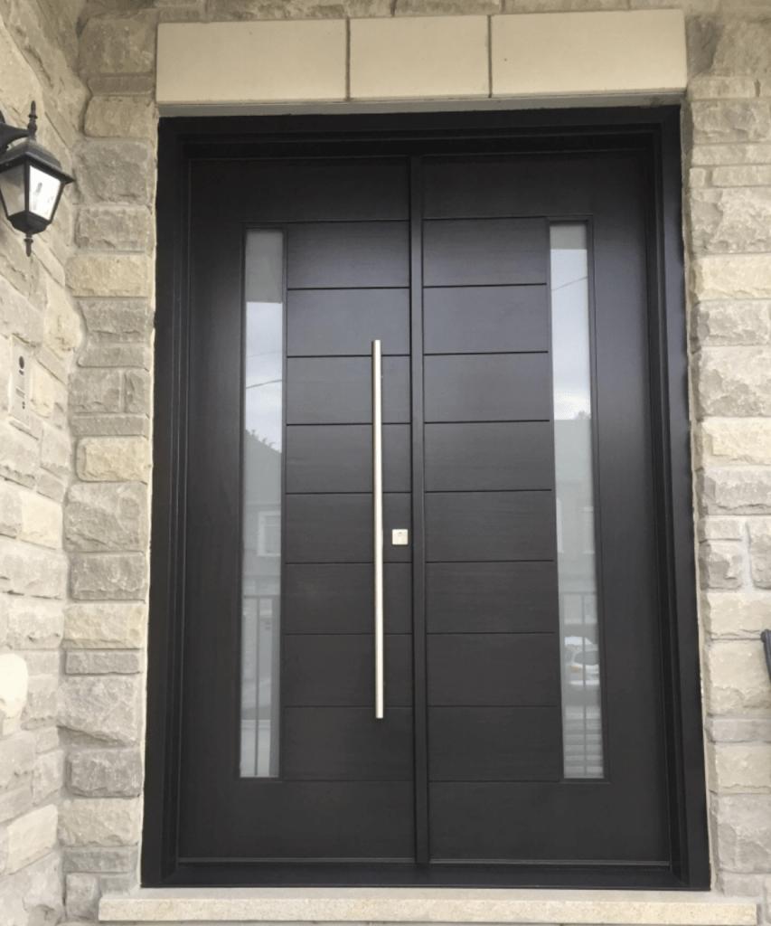 Modern Design Solid Mahogany Wood Double Door Modern Doors