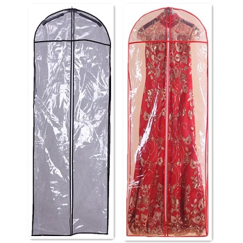 Do protect your wedding dress with cover