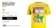 Brazilian looking to score Adidas t-shirt for 2014 World Cup