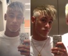 Neymar a few days ago: tall and tanned and young and blonde?