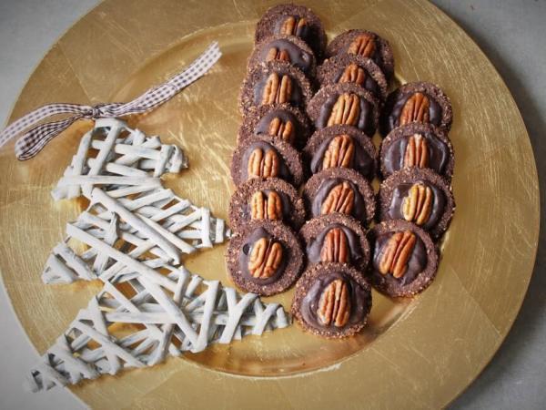 Keto ciasteczka kakaowe
