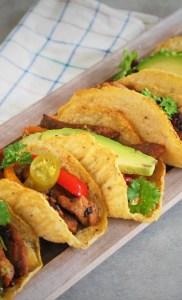 Keto tacos z fajitas (Paleo, LowCarb)