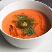Keto gazpacho (Paleo, LowCarb, Vegan)