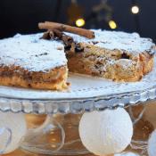 Keto ciasto z marcepanem i żurawiną (Paleo, LowCarb)