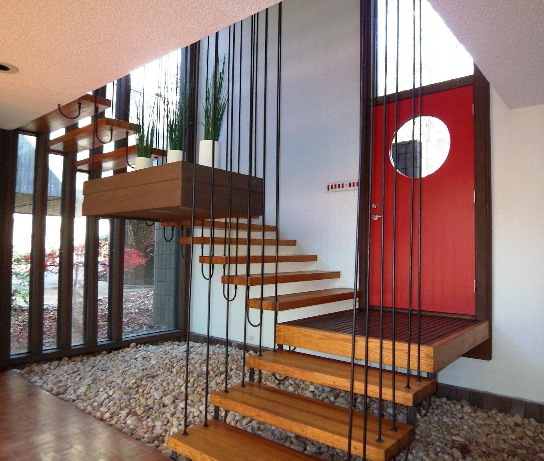 Modernist Stairs • Modern Charlotte Nc Homes For Sale Mid   Mid Century Modern Stairs   Modern Craftsman   Design   Modern Middle House   Industrial Modern   Lighting