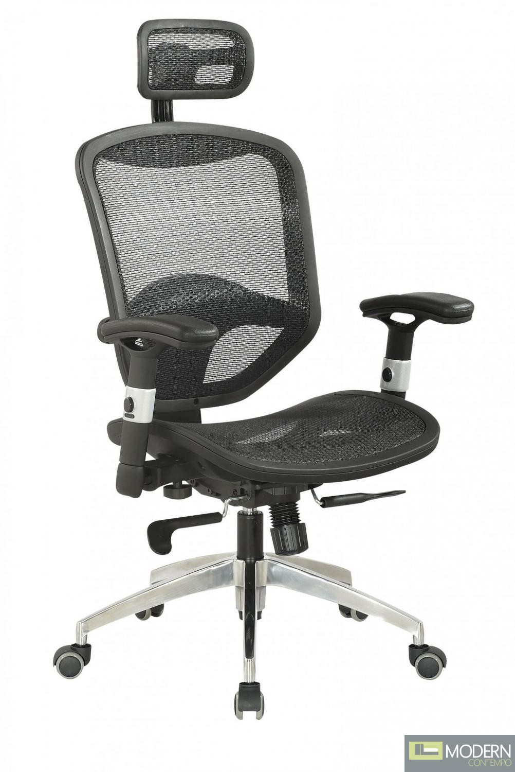 Mesh Seat Amp Back WHeadrest Multi Adjustable Pneumatic Gas Lift Office Chair