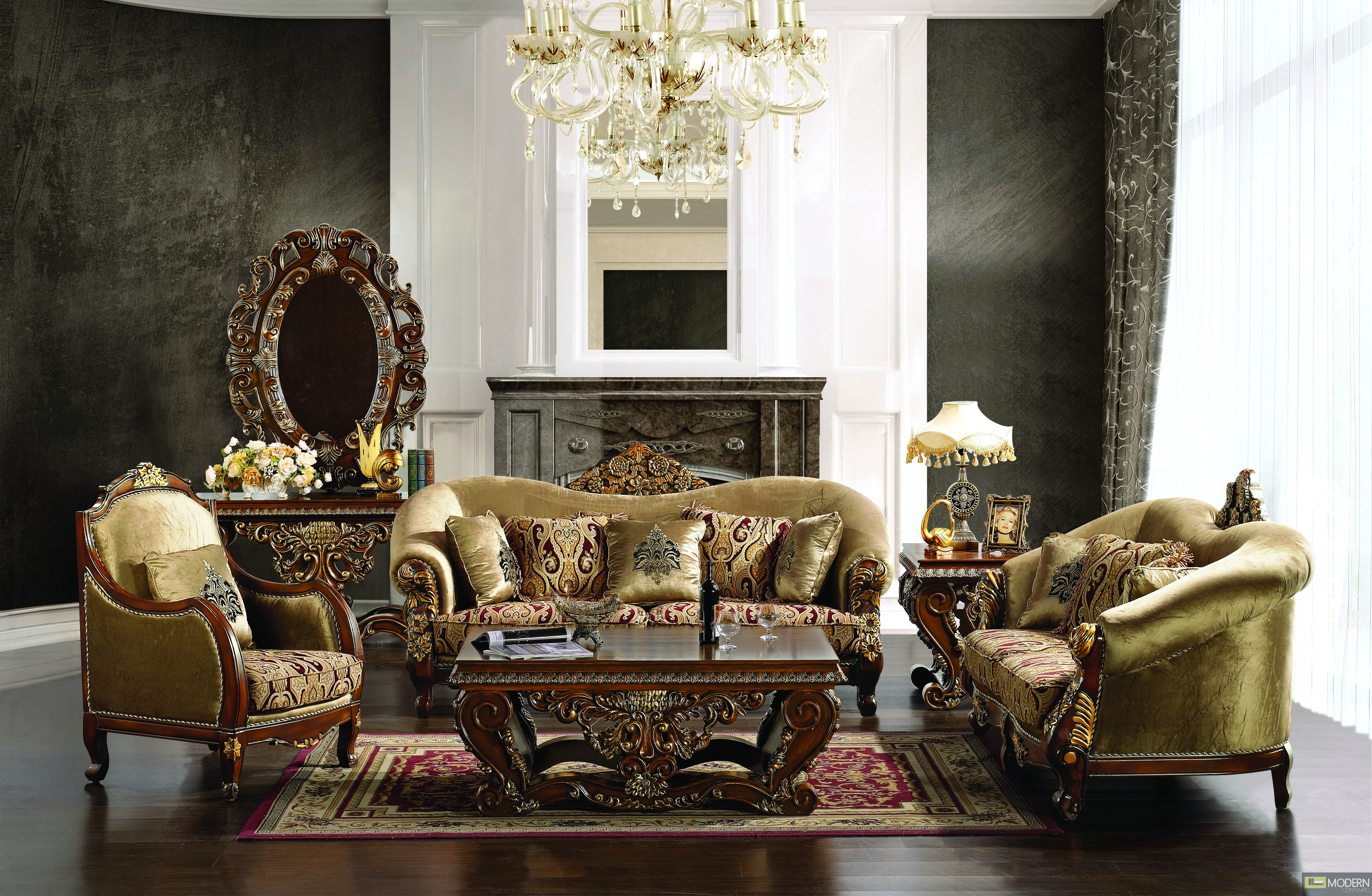Luxury Sofa Love Seat Amp Chair 3 Piece Traditional Living