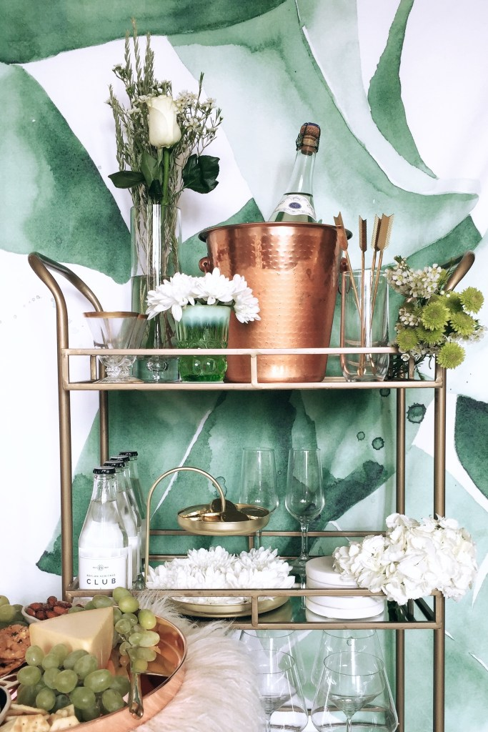 St. Patrick's Day Bar Cart