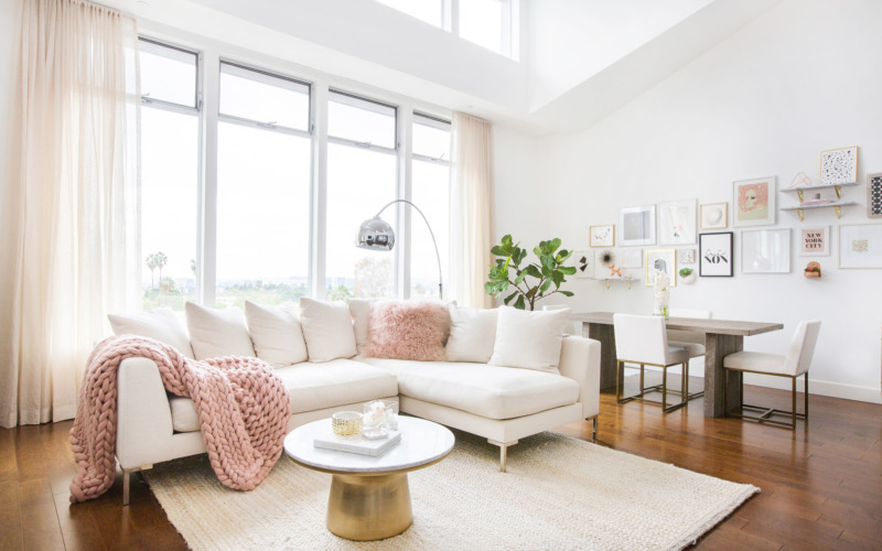 How To Incorporate Millennial Pink In Your Home To Keep Your Moods Lifted + Home Colorful As The Darker Days Begin To Set In
