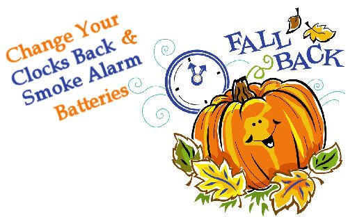 Fall Back Time Change! Turn Clock Back 1 Hour Tonight