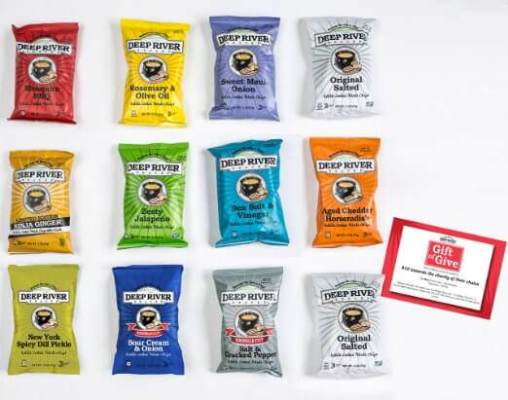 Chips Make a Fantastic Stocking Stuffer! Deep River Snacks GMO & Gluten Free #Stocking Stuffer #HolidayGiftGuide2015